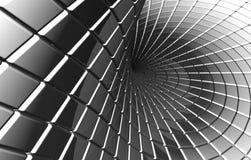 扭转的抽象方形银色模式 免版税库存照片