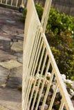 扶手栏杆的测深索在前沿的 图库摄影