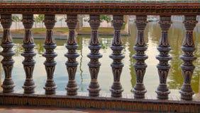 扶手栏杆西班牙广场 库存照片