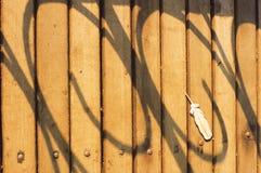扶手栏杆阴影 库存照片