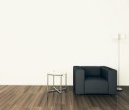 扶手椅子内部最小现代 库存图片