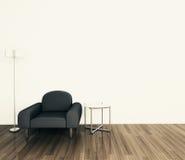 扶手椅子内部最小现代 免版税库存照片