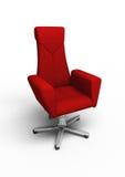 扶手椅子办公室红色 库存图片