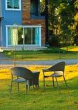 扶手椅子庭院二 图库摄影