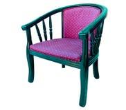 扶手椅子查出现代空白木 免版税库存图片