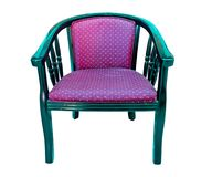 扶手椅子查出的现代空白木 库存图片