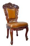 扶手椅子查出的皮革豪华 图库摄影