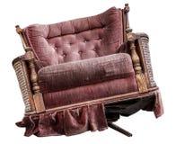 扶手椅子查出的葡萄酒 库存照片
