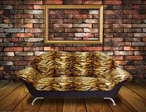 扶手椅子框架豪华空间葡萄酒 库存照片