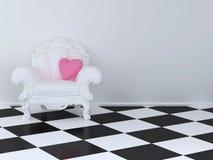 扶手椅子白色 库存图片
