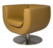 扶手椅子皮革休息室 库存图片
