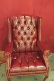 扶手椅子皮革传统 免版税库存图片
