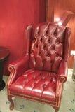扶手椅子皮革传统 库存照片