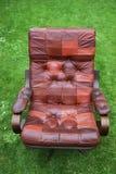 扶手椅子皮革减速火箭 免版税库存图片