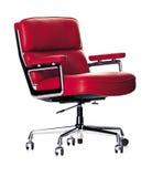 扶手椅子皮革红色 库存照片