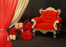 扶手椅子礼品皇家包裹 库存例证