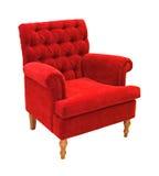 扶手椅子红色 免版税库存照片