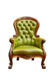 扶手椅子绿色皮革豪华 库存照片