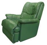 扶手椅子绿色皮革 免版税图库摄影
