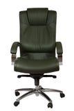 扶手椅子绿色豪华办公室 免版税图库摄影