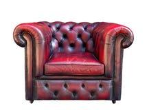 扶手椅子背景皮革老白色 库存照片