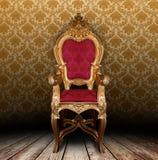 扶手椅子葡萄酒 图库摄影