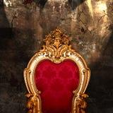扶手椅子葡萄酒 库存图片