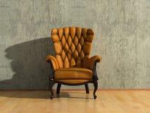 扶手椅子葡萄酒 库存例证