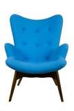 扶手椅子蓝色 库存照片
