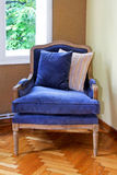 扶手椅子蓝色 免版税库存图片