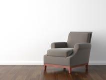 扶手椅子褐色设计内部 库存例证