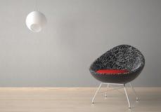 扶手椅子设计内部 向量例证