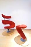 扶手椅子设计员红色 库存照片