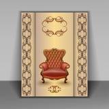 扶手椅子豪华家具项目 免版税库存照片