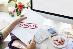 批准容限批准许可证图表概念 免版税库存照片