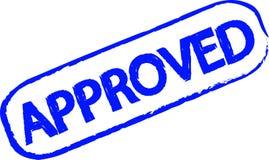 批准的不加考虑表赞同的人 库存例证