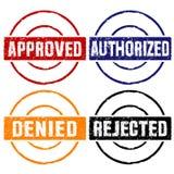 批准的不加考虑表赞同的人 库存图片