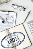 100%批准的专属保证产品概念 免版税库存图片