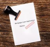 批准的抵押贷款文件的图象 库存图片
