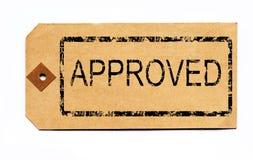 批准的组合证券标签 免版税库存照片