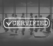 批准的被检查的容易接近的授权安全概念 库存图片