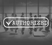批准的被检查的容易接近的授权安全概念 免版税库存照片
