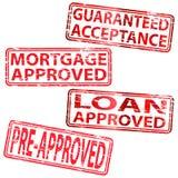 批准的贷款不加考虑表赞同的人 免版税库存图片