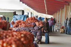 批发食物市场Stolichniy在基辅,乌克兰。 库存照片