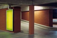 批次传说上有名晚上的停车 库存图片