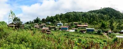 批评帕特村庄,它是卡扬部落,克耶邦地方,我 库存图片