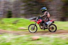 批评摄影,摩托车实践 免版税库存照片