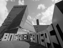 批转在塔特现代Tavatnik大厦在黑白的伦敦 免版税图库摄影