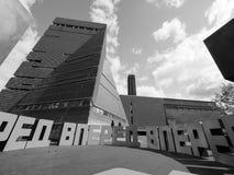 批转在塔特现代Tavatnik大厦在黑白的伦敦 免版税库存图片