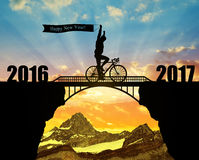 批转对新年2017年 库存照片